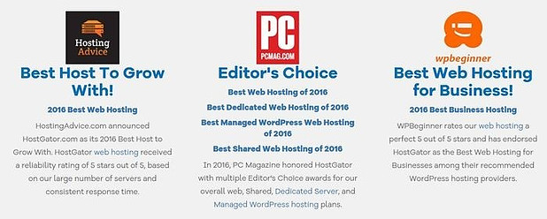 hostgator-awards-best-web-hosting-for-beginners