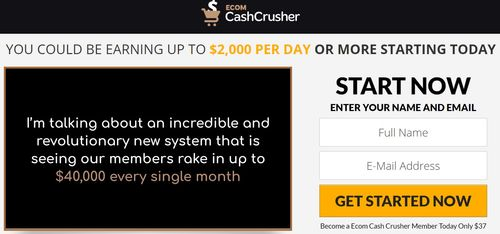 ecom cash crusher income