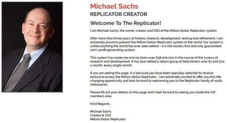 million dollar replicator michael sachs