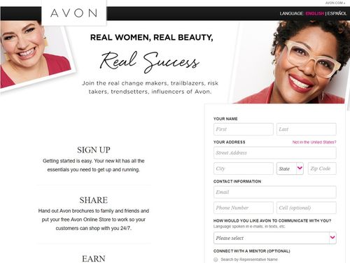 avon become rep