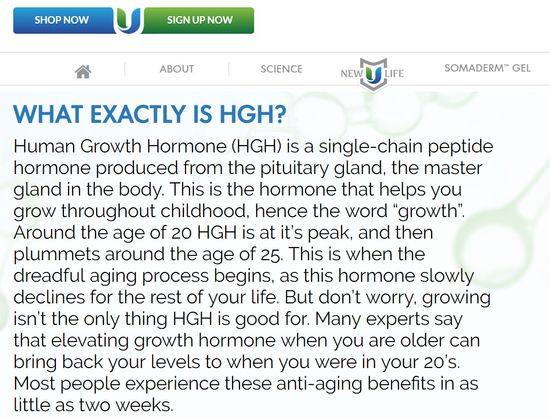 new u life hgh science