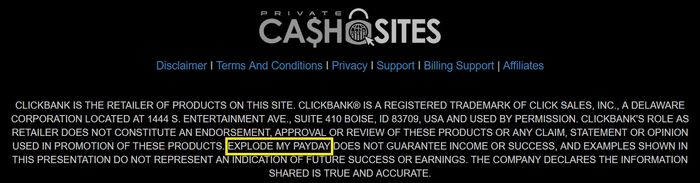 private cash sites linked to explode my payday