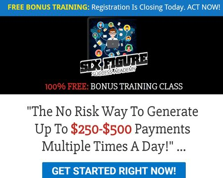 Six Figure Success Academy  For Sale New