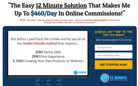 Affiliate Marketing 12 Minute Affiliate System  Under 600