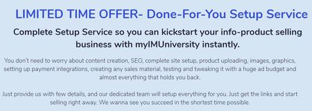 myimuniversity done for you