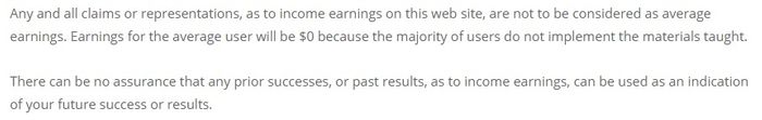 one minute free traffic earnings disclaimer