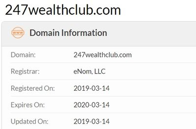 247 wealth club domain registration