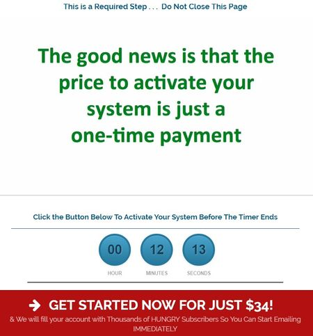 copy my email system activation payment
