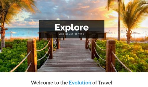 evolution travel homepage