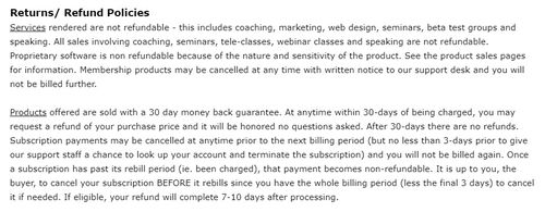 my ecom club refund policies