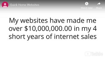 quick home websites income