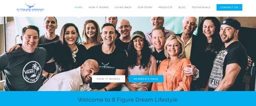 8 figure dream lifestyle home page