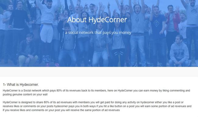 hydecorner home page