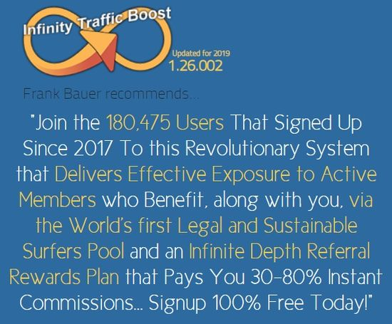 infinity traffic boost home page