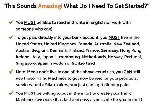 one minute traffic machines get paid