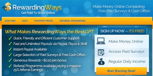 rewardingways home page