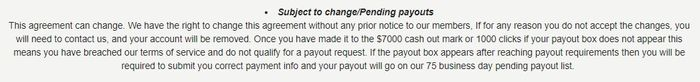 seven dollar click change agreement