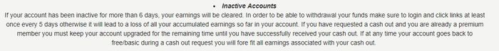 seven dollar click inactive accounts