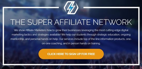 the super affiliate network home page