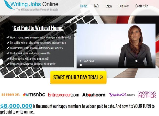 writing jobs online homepage