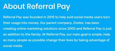 referralpay years in service