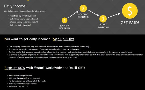 yestor home page