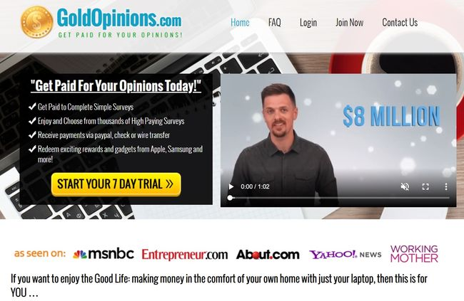 gold opinions home page