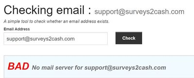 surveys2cash email