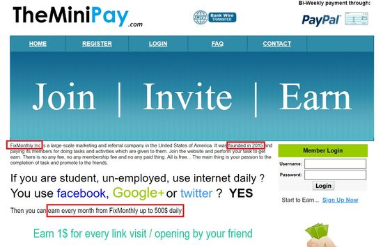 theminipay home page