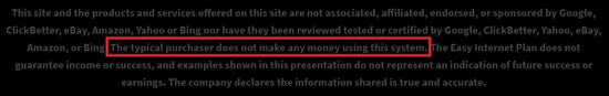 fast home sites disclaimer