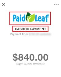 paidleaf fake payment proof