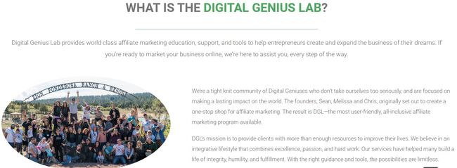 digital genius lab home page