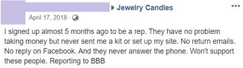 jewelry candles feedback 1