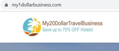 my 20 dollar travel business home page