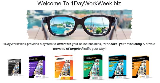 1 day work week sales page