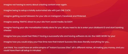 instant success site home page