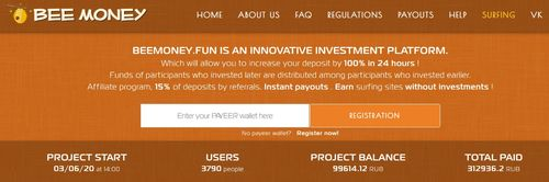 beemoney home page