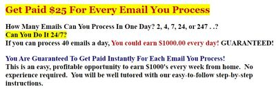 email processing homebiz guarantee