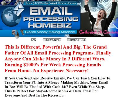 email processing homebiz home page
