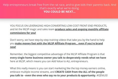 my lead system pro affiliate program