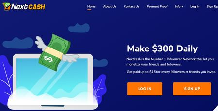 nextcash home page