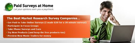paid surveys at home home page