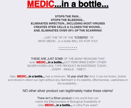 infinite increasing income medic in a bottle