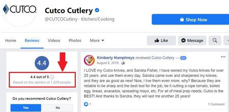 cutco reviews