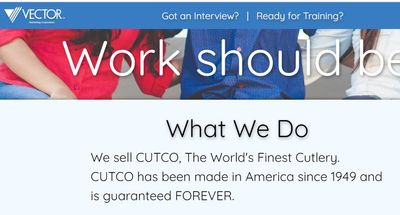 cutco vector marketing website